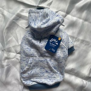 NWT Small Dog hoodie blue and white